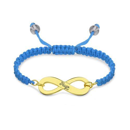 bracelet d'amitié infini plaqué Or 18 carats ce bracelet infini prénom est disponible en argent plaqué Or/plaqué Or 18 carats
