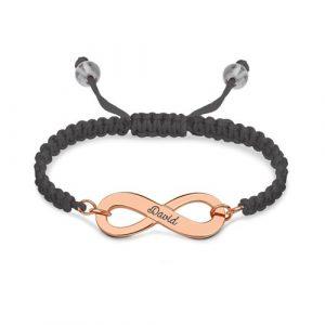Bracelet d'amitié infini personnalisé