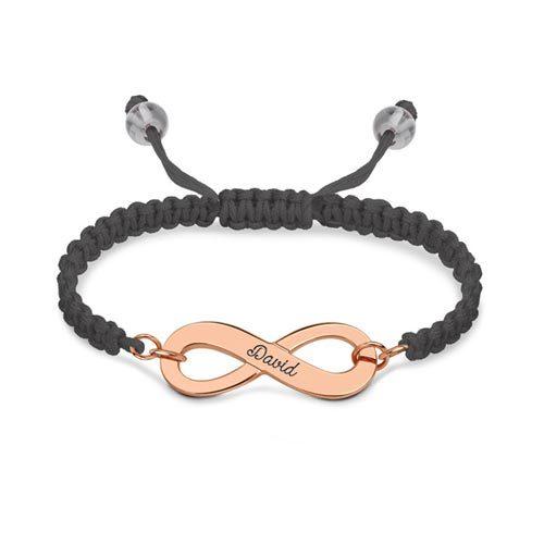 Bracelet d'amitié Infini - cordon multi-couleurs - By La boutique MAB - Argent - Plaqué or - Plaqué or rose