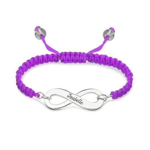 Bracelet d'amitié infini personnalisé, ce bracelet d'amitié est disponible en argent, plaqué Or, plaqué Or rose 18 carats