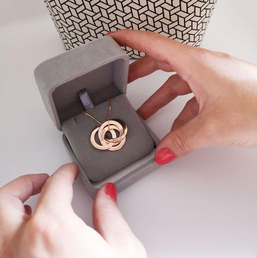 Collier 3 anneaux entrelacés à graver