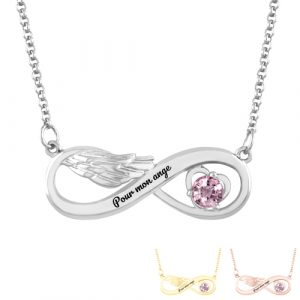 Collier infini aile d'ange