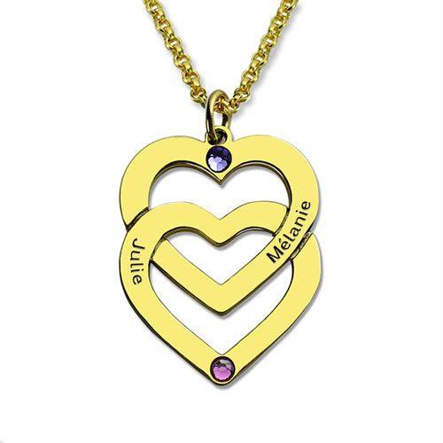 Pendentif personnalisé prénom et pierre de naissance le cadeau idéal à offrir pour votre maman à l'occasion de son anniversaire