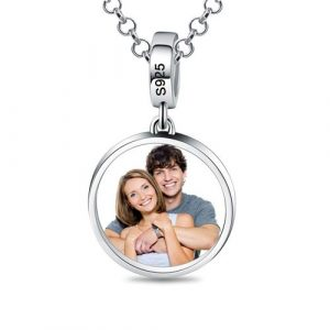 Collier photo charm à personnaliser