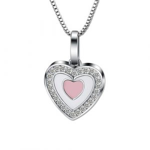 Collier photo coeur à personnaliser