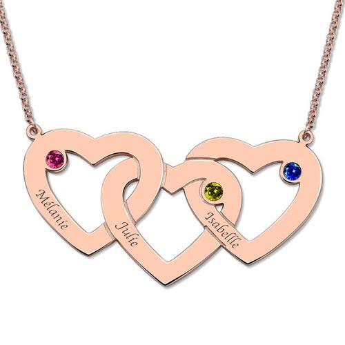 personnalise ton collier pr nom 3 c urs avec perles argent plaqu or plaqu or rose. Black Bedroom Furniture Sets. Home Design Ideas