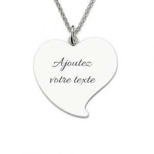 Collier photo coeur incurvé à personnaliser