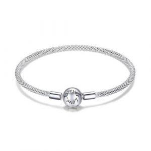 Bracelet à charms sphère en Argent