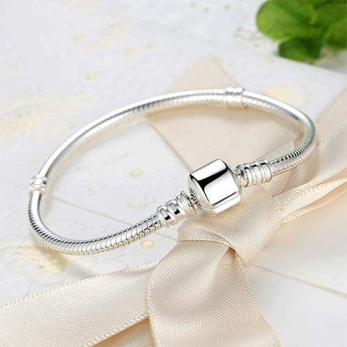 Bracelet charm serpent en Argent 925, ajoutez-y vos charms préférés ou combinez le avec les charms disponibles sur notre boutique