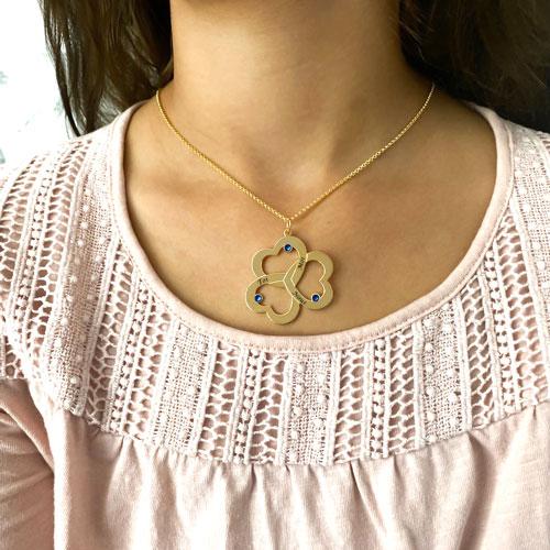 Collier 3 cœurs personnalisé bijou à graver avec 3 prénoms