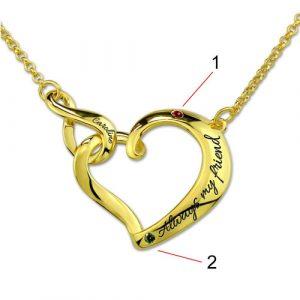 Collier personnalisé prénom coeur infini