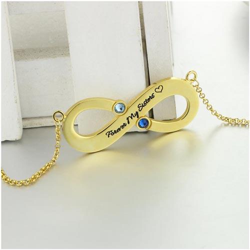 Complétez votre parure avec ce joli collier infini message prénom à personnaliser accompagné d'une jolie chaine, s'accordera parfaitement avec toutes vos tenues