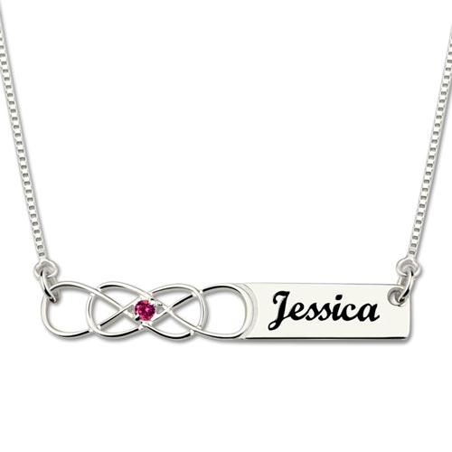 Laissez-vous séduire par ce joli collier prénom infini personnalisé en Argent 925, ajoutez-y votre prénom ou celui d'une personne chère à votre coeur