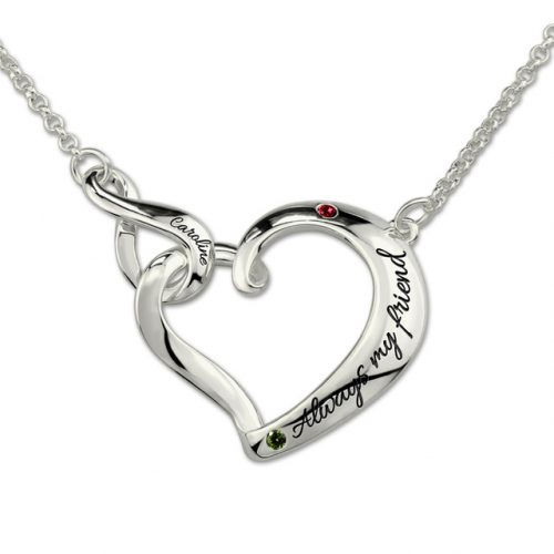 Faites de ce magnifique Collier personnalisé prénom coeur infini , un bijou incomparable, en y ajoutant une jolie déclaration et le prénom de votre bien-aimé