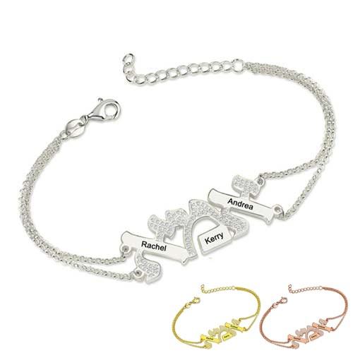 Bracelet אמא Hébreu maman à personnaliser