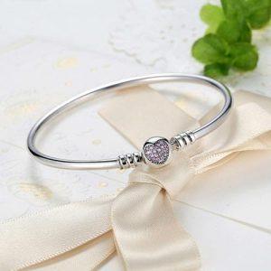 Bracelet charms coeur en Argent