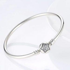 Bracelet jonc étoile en Argent