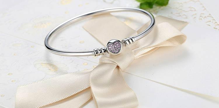 Bracelet charms coeur en Argent 925