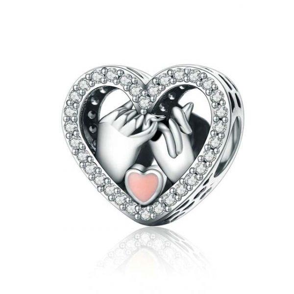 Vous êtes unique ! Créez le style qui vous ressemble avec ce magnifiquecharm promesse d'amour en Argent925 de grande qualité