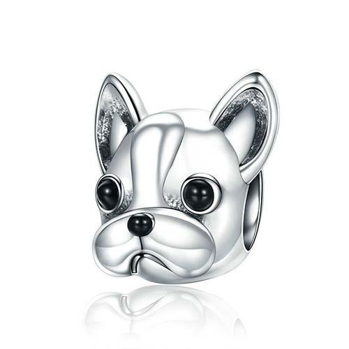 Laissez-vous attendrir par ce jolicharm bouledogue français, un bijou exceptionnel représentant le joli minois de votre animal de compagnie préféré