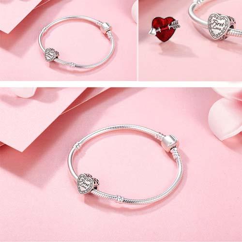 Charm coeur de Cupidon en Argent Massif 925 C'est le cadeau rêvé et la déclaration idéale pour surprendre votre bien-aimé