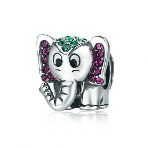 Charm éléphant en argent