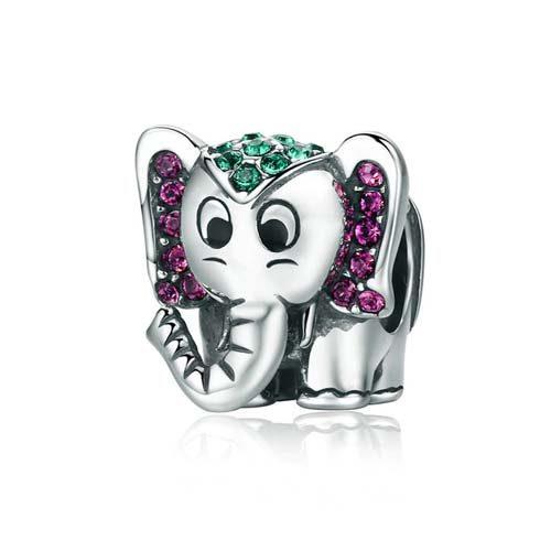 Ce charm éléphant en Argent Massif à votre poignet vous attirera la bonne fortune. Un joli bijou porte-bonheur qui embellira votre bracelet