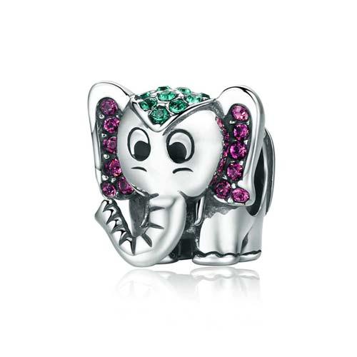 5ba463637 Charm éléphant en argent massif 925 - La boutique MAB