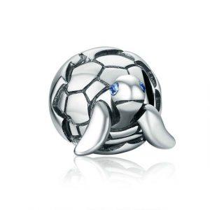Charm tortue de perles en argent