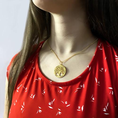Bijou personnalisé Collier famille personnalisé collier arbre de vie personnalisable avec texte