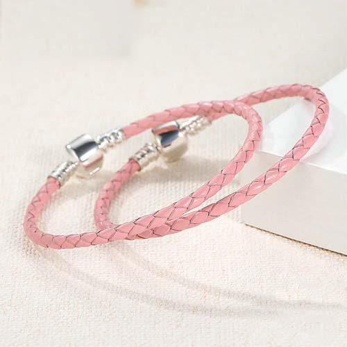 Bracelet Charm en Cuir et Argent Massif 925, une marque reconnue pour ses bijoux de qualité