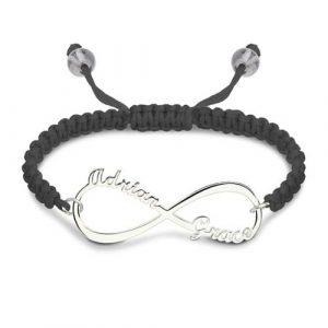Bracelet d'amitié Infini à personnaliser