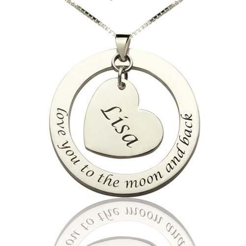 Collier Maman personnalisé en Argent Massif 925, disponible aussi en plaqué Or 18k un collier original à garder près de votre coeur