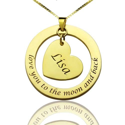 Collier Maman personnalisé en plaqué Or 18k, disponible aussi en Argent Massif 925 un collier original à garder près de votre coeur