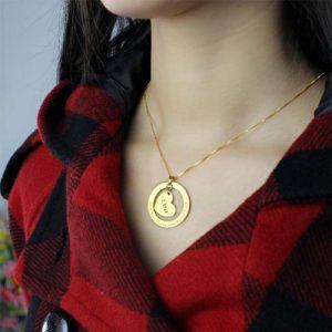Collier Mon coeur à personnaliser - By La boutique MAB -Argent - Plaqué or