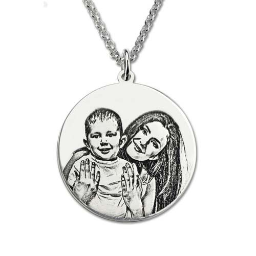 Collier photo Maman à personnaliser en Argent Massif 925