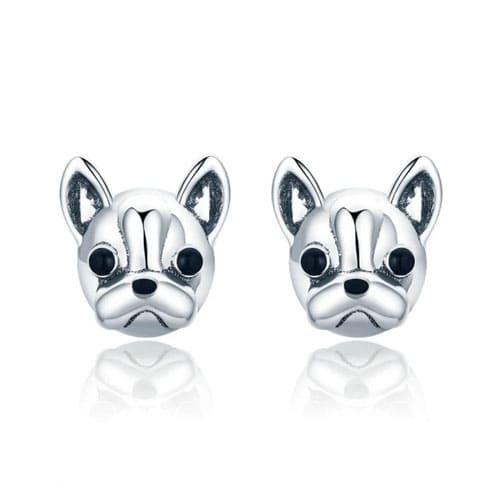 Boucles d'oreilles bouledogue français