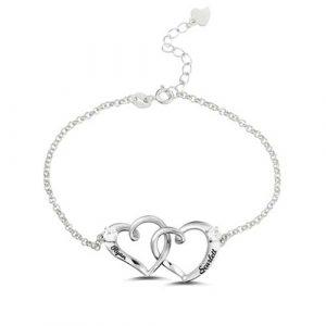 Bracelet coeur gravé prénom