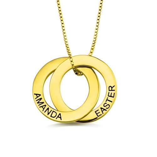 Collier russe 2 anneaux à personnaliser