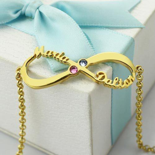 Bracelet infini 2 prénoms NDXOF