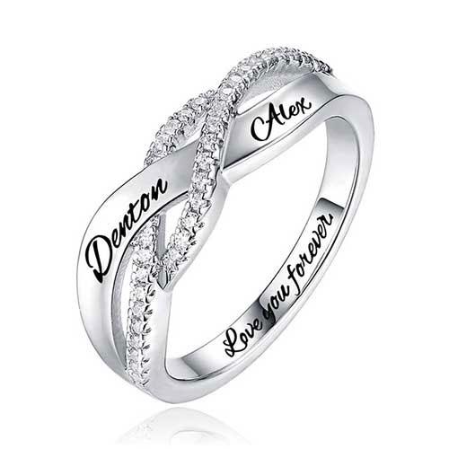 Bague de fiançailles personnalisée bague de mariage personnalisable