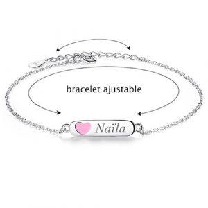 Bracelet enfant coeur à personnaliser