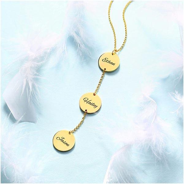 Collier 3 médailles en plaqué Or 18 carats
