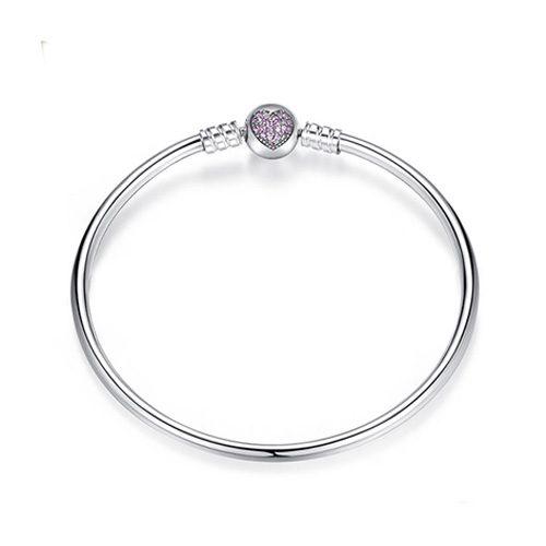 Ajoutez à votre boîte à bijoux ce superbe bracelet charms coeur! c'est le bijou parfait pour enrichir votre collection de charms préférés