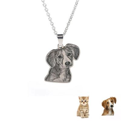 Collier chien et chat personnalisé avec texte et photo