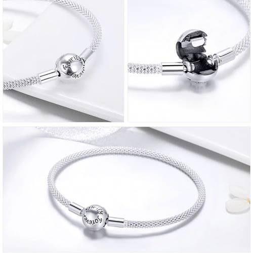 Bracelet charms en Argent 925 créez au gré de votre imagination un bijou comme nul autre pareil ajoutez-y vos charms préférés, et combinez-le avec les charms disponibles sur notre boutique