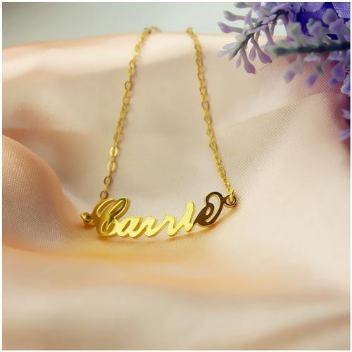 Bracelet personnalisé Carrie Bradshaw en plaqué Or 18 carats