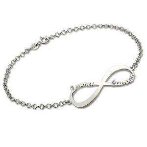 Bracelet personnalisé infini 2 prénoms