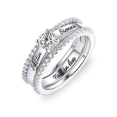 Créez un bijou personnalisétendance et à la mode pour votre grand amour, avec cette sublime bague de fiançailles personnalisable