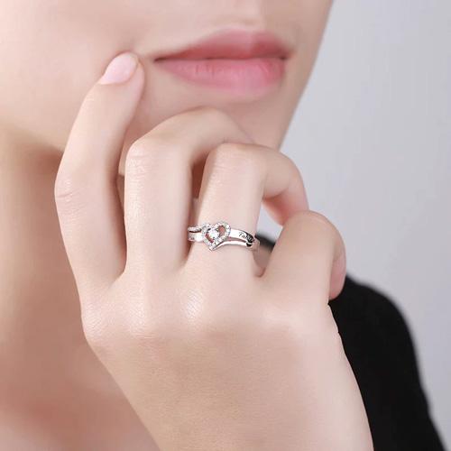 Bague de fiançailles personnalisé cadeau personnalisé